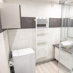 salle de bain, douche à l'italienne, lave linge