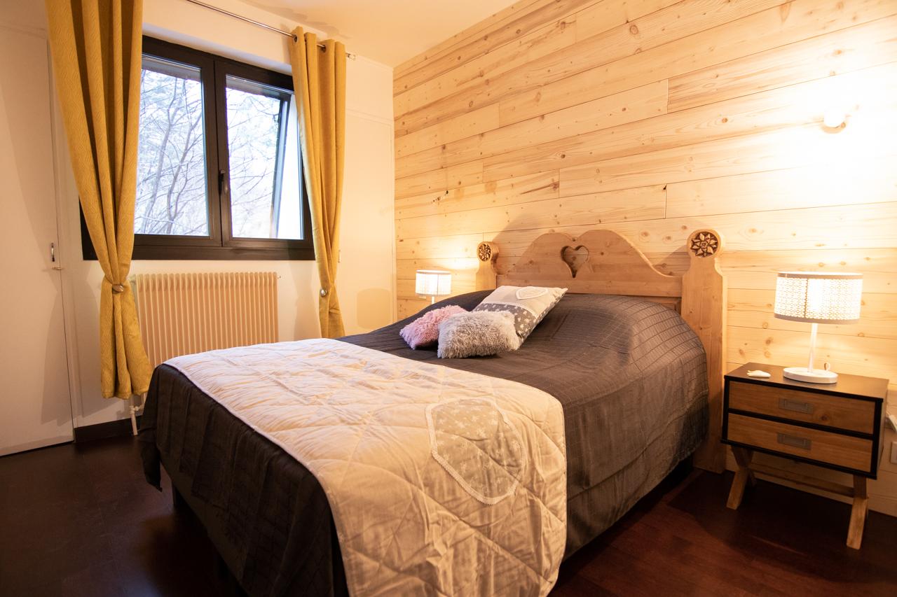 Chambre décoration montagnarde