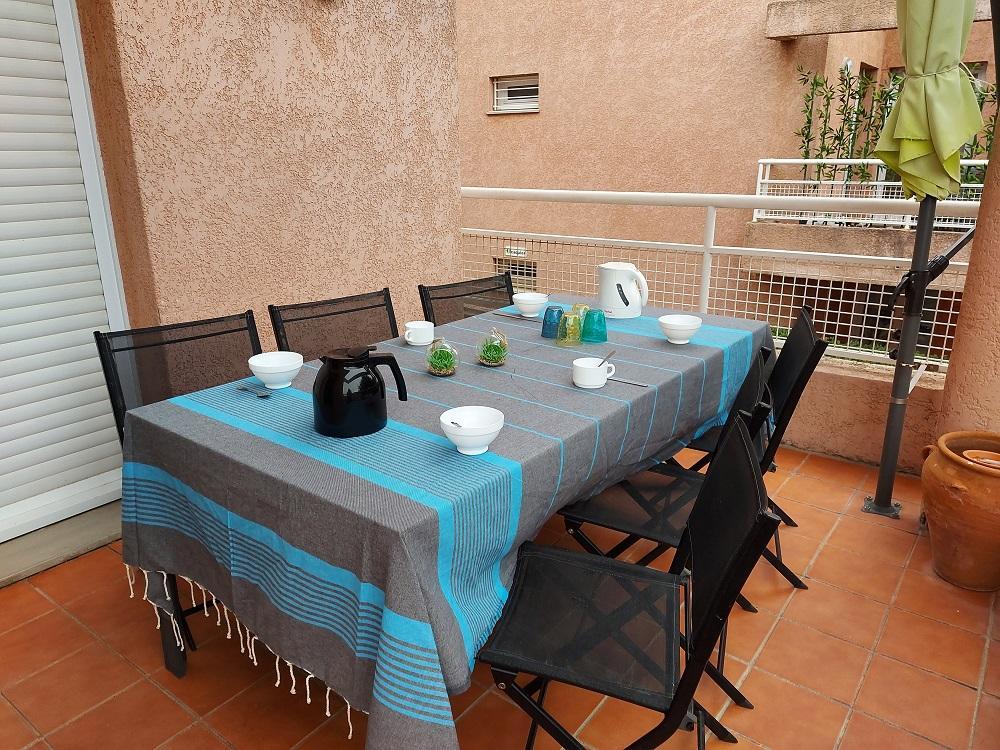 La terrasse accès direct séjour et chambre parentale