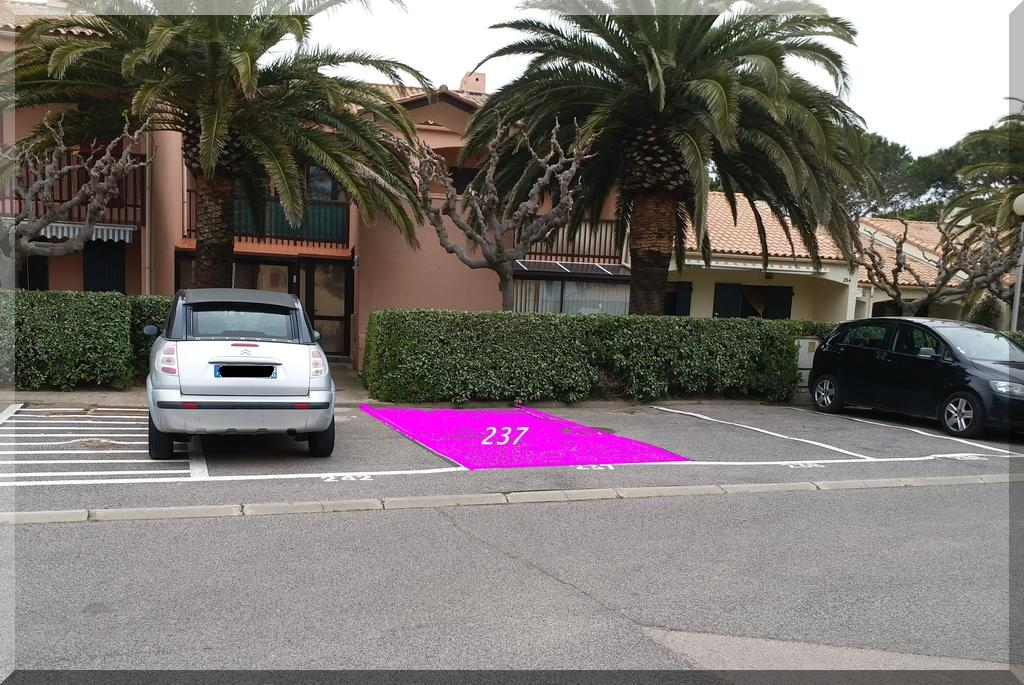 Le parking : Place réservée et gratuite